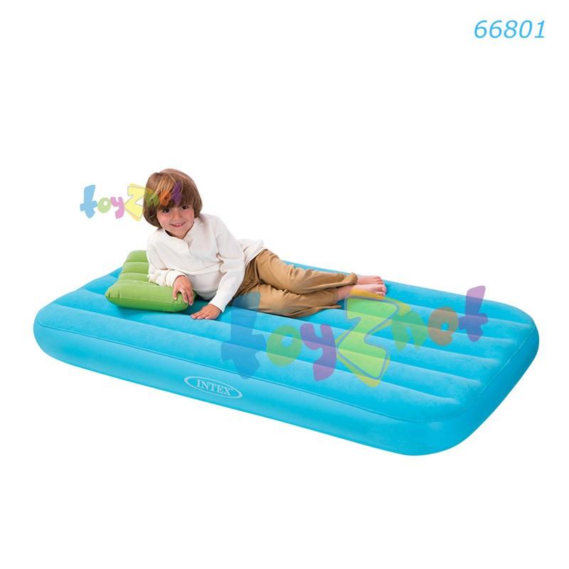 Intex ที่นอนเป่าลม โคซี่แอนด์ฟัน 88x157x18 ซม. สีฟ้า รุ่น 66801BL