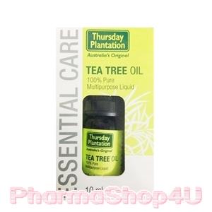 ***หมด*** Thursday Plantation Tea Tree Oil 10mL ทีทรีออย บริสุทธ์ 100% แต้มสิวหรือผดให้ยุบเร็ว ลดผื่นแดง ลดการระคายเคืองของผิว