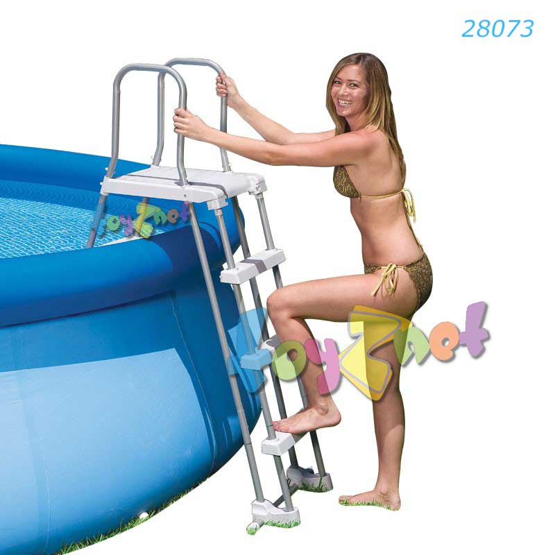 Intex บันไดสระน้ำถอดได้ - สระสูง 48 นิ้ว (122 ซม.) รุ่น 28073