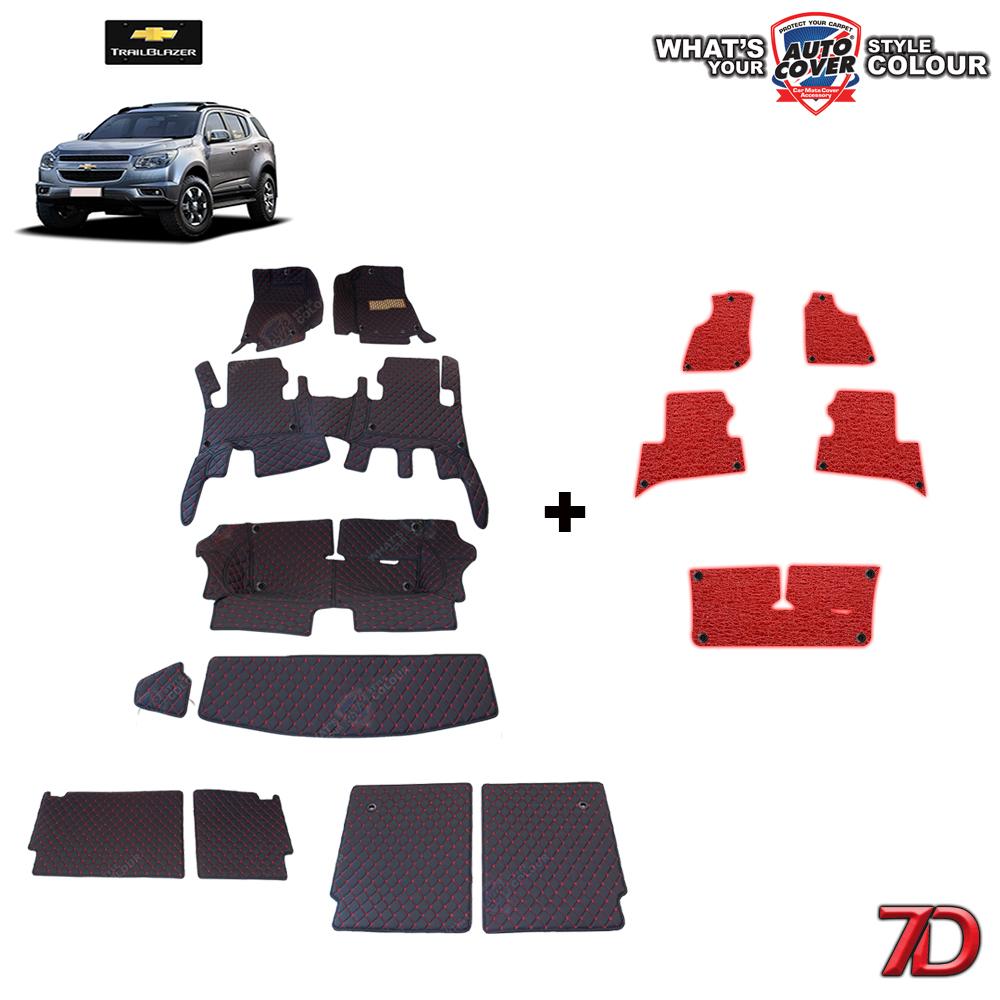 พรมรถยนต์ 7 D Anti Dust รถ CHEVROLET TRAILBLAZER ชุดเต็มคัน จำนวน 10+5 ชิ้น