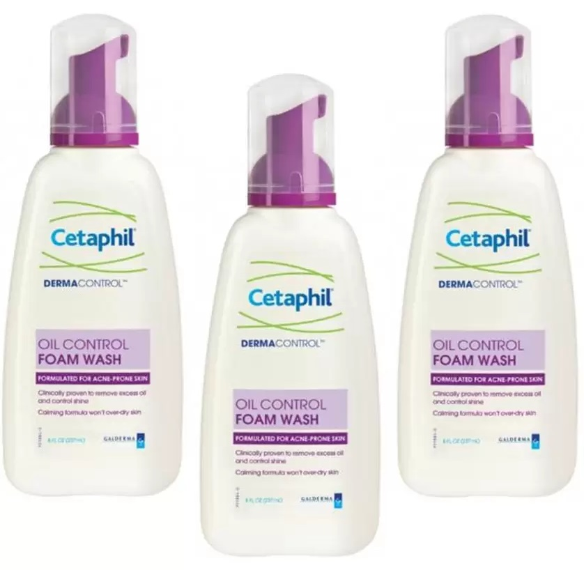 Cetaphil dermacontrol oil-control foam wash 235ml 3 ขวด สำเนา