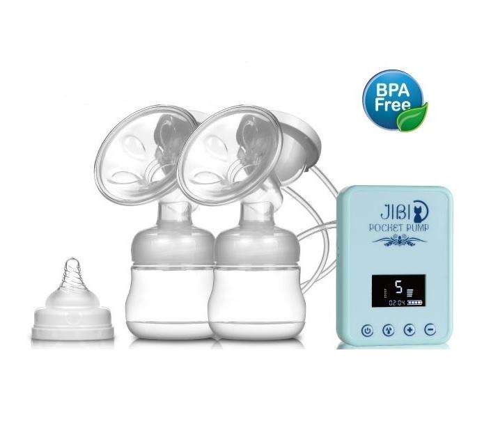 ปั๊มนมไฟฟ้าแบบคู่ (Jibi Pocket Pump ประกัน 3 เดือน)