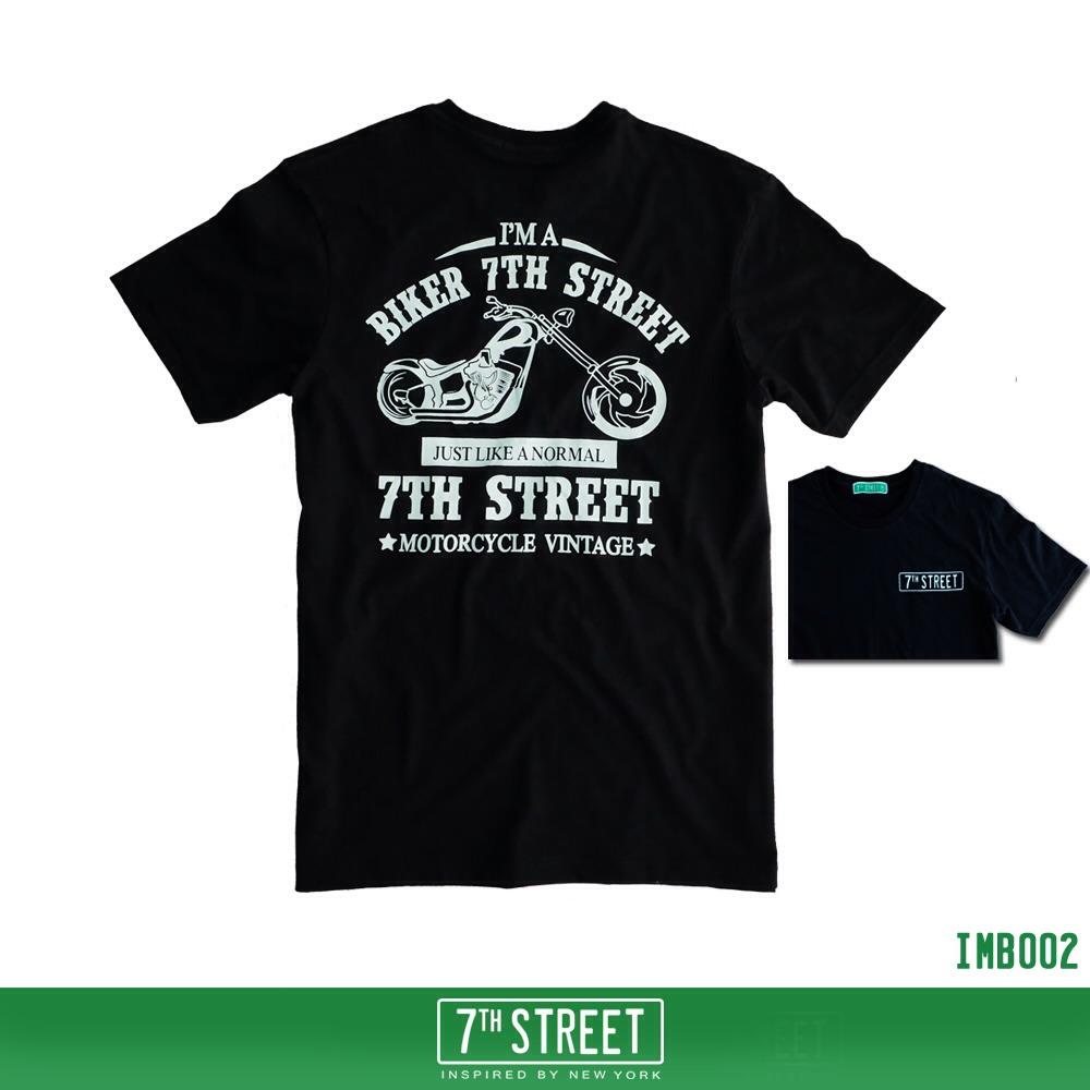 เสื้อยืด 7TH STREET - รุ่น I'm a Biker | Black