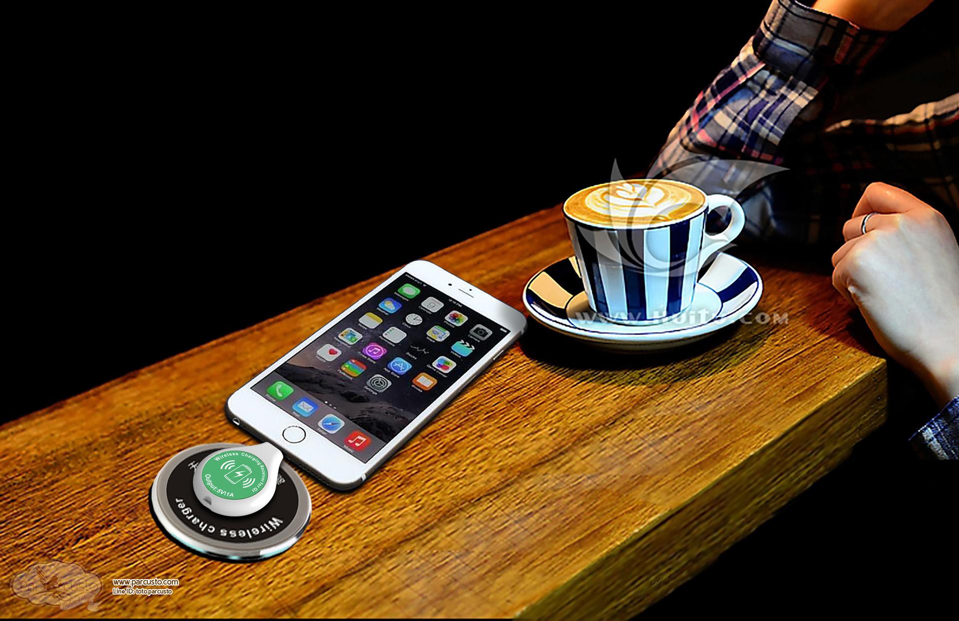 ตัวรับ Wireless Charging Qi 5V 1A สำหรับ Android และ iPhone [Pre-order]