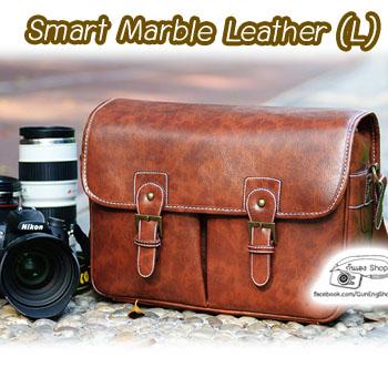 กระเป๋ากล้อง vintage Smart Marble Leather Bag (ขนาดใหญ่) (Pre Order)