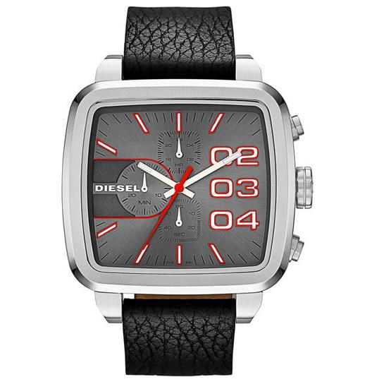 นาฬิกาข้อมือ ดีเซล Diesel Men's Square Franchise Chronograph Watch รุ่น DZ4304