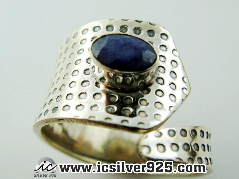 ▽ทับทิมอินเดีย Indian Ruby- แหวนเงินแท้ 925 (แหวนเบอร์ : 58 , 2.5g)
