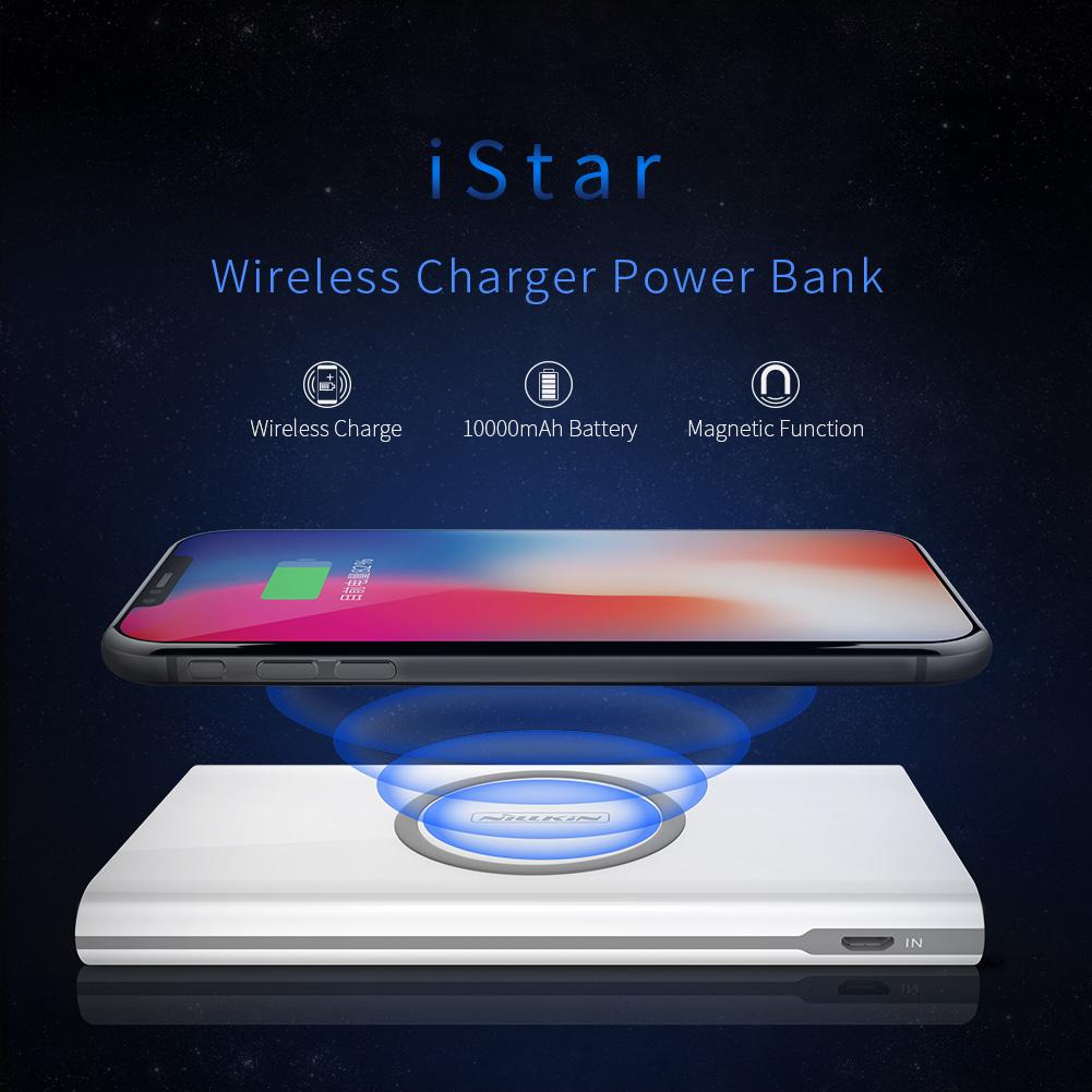 พาวเวอร์แบงค์ชาร์จไร้สาย NILLKIN iStar Wireless Charger PowerBank 10,000mAh