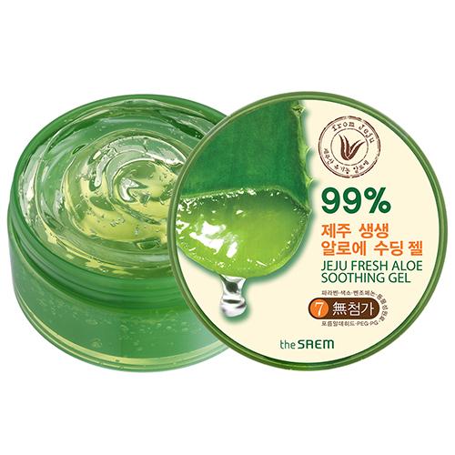 The Saem Jeju Fresh Aloe Soothing Gel 99% ปริมาณ 300 ml.