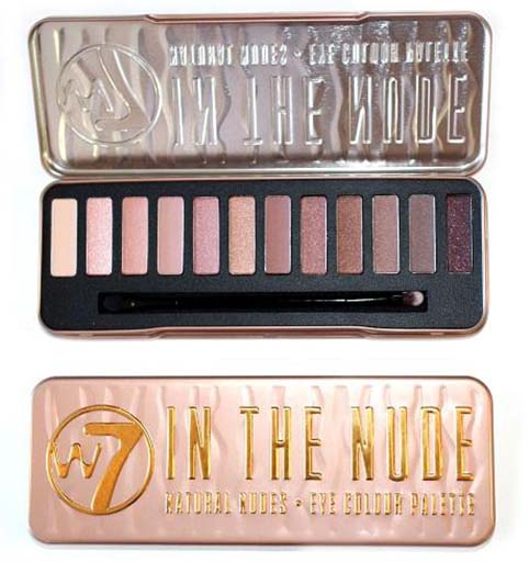 W7 In the Nude Palette Eyeshadow (โทนสี ฝาแฝด Naked3)