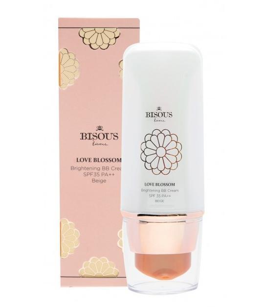 Bisous Bisous Love Blossom Brightening BB Cream SPF35 PA++ ปริมาณ30กรัม #2 Ivory สำหรับผิวสองสี