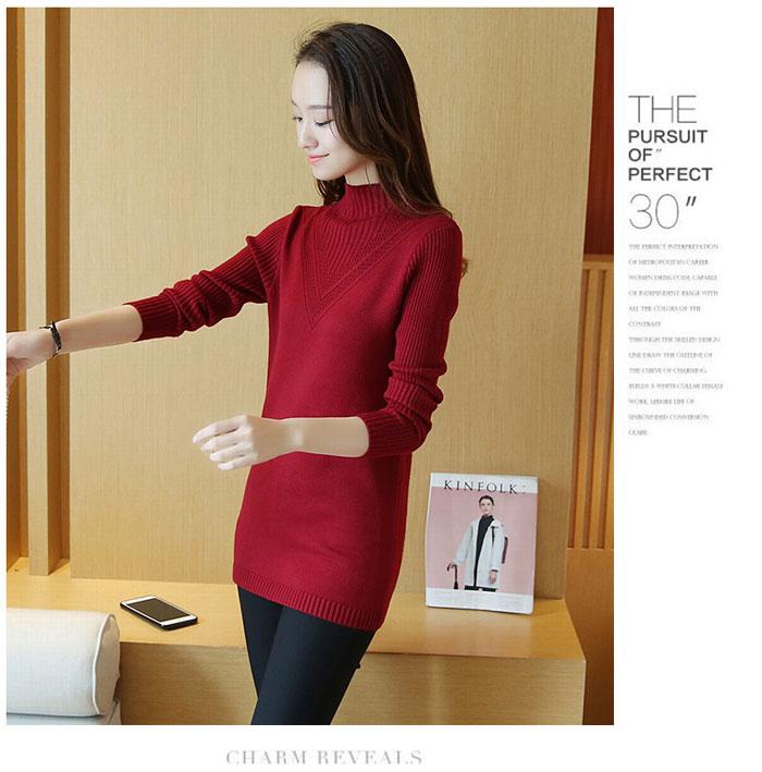 เสื้อไหมพรมแฟชั่นกันหนาว เสื้อสเวตเตอร์ สีน้ำตาลแดง ดีเทลแต่งลายช่วงคอ ไอเท็มเด็ด หน้าหนาว ใส่แล้วชิค