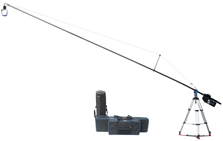 PROAIM 24ft POLEJIB Telescoping Camera POLE Jib Arm with Pan Tilt Head (POLEJIB)