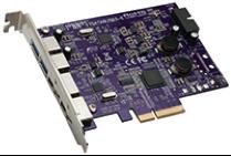 Tempo SATA Duo 2-Port 6Gb eSATA + 4 charging port USB 3.0 (2ext. + 2int.) PCIe 2.0 Card [Thunderbolt compatible]