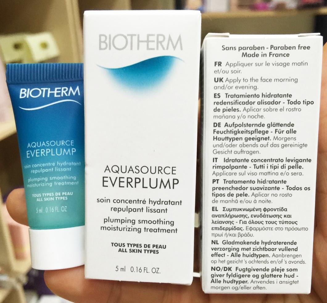 Biotherm Aquasource Everplump 5ml. ขนาดทดลอง