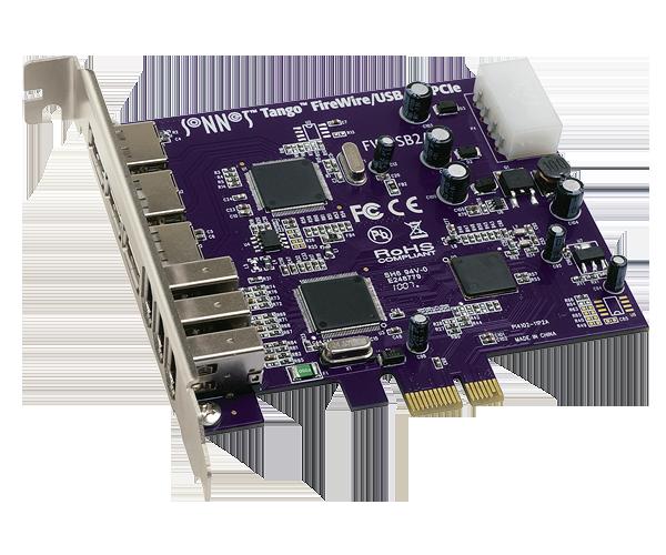 Tango FireWire/USB PCIe Card (3 FireWire + 3 USB ports)