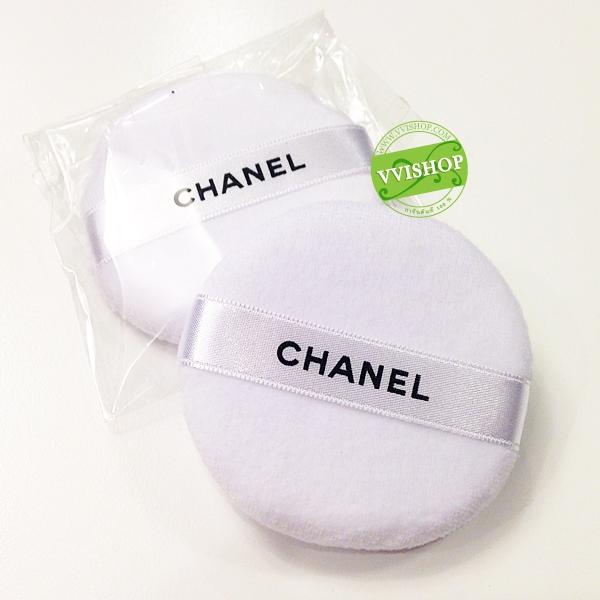 Chanel Loose Powder Puff พัฟสีขาว สำหรับแป้งฝุ่น ทำจากกำมะหยี่ นุ่ม แน่น ไม่กินแป้ง ให้ลุค นวลเนียน (ขนาดปกติ)