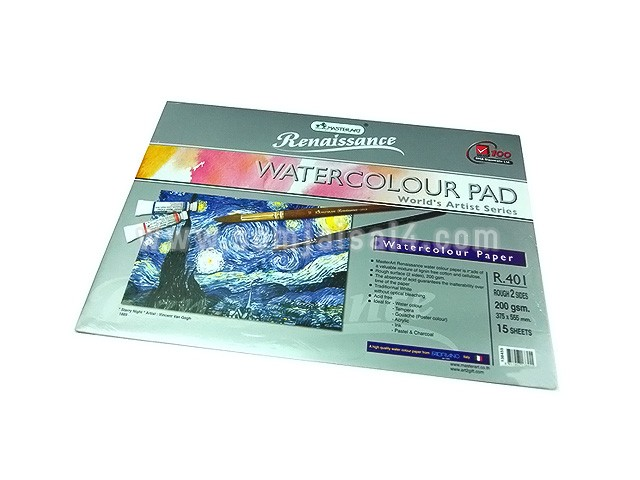 Renaissance Water Colour Pad 200 gsm.