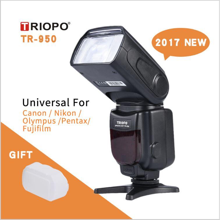 New Triopo TR-950 Flash Light Speedlite For Nikon Canon Fujifilm Olympus
