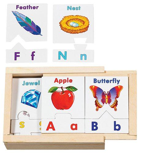การ์ด ABC Melissa and doug Alphabet Sorting Puzzle Cards