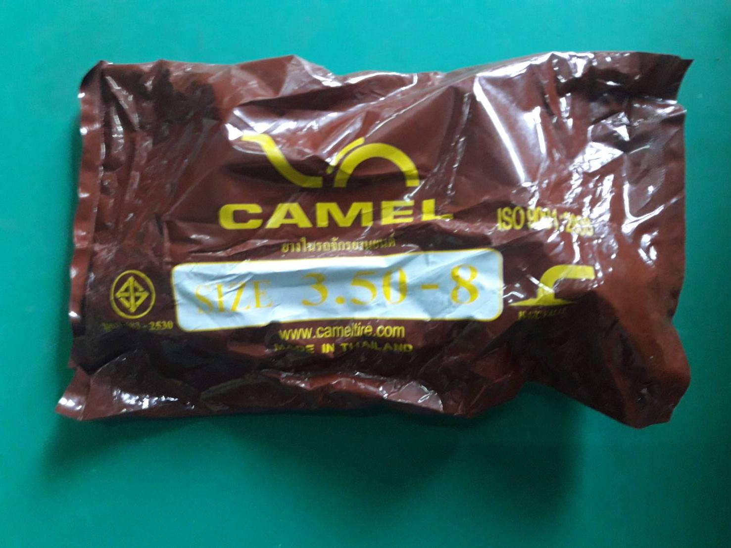 3.50-8 TR87 (จุ๊บงอ) ยางใน ยี่ห้อ CAMEL