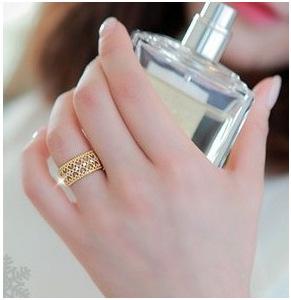 F644 - แหวนแฟชั่น,แหวน,แหวนเกาหลี,เครื่องประดับ tide rose gold rings