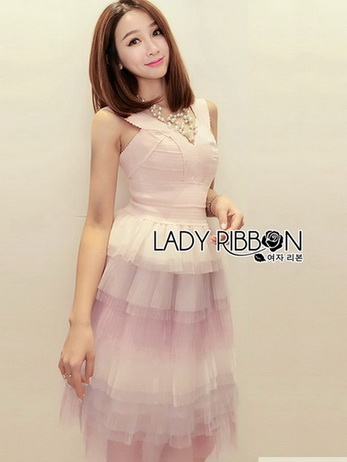 Lady Evelyn Cotton Ruffle Tulle Dress