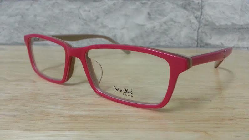POLO club pc 5566 กรอบแว่นตาพร้อมเลนส์ มัลติโค๊ตHOYA ป้องกันรังสีคอม
