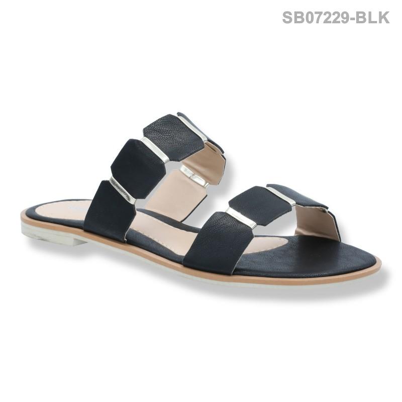 ลดล้างสต๊อก รองเท้าส้นแบน SB07229-BLK [สีดำ]