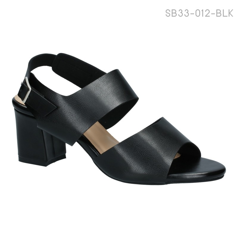 ลดล้างสต๊อก รองเท้าส้นเตี้ย SB33-012-BLK [สีดำ]