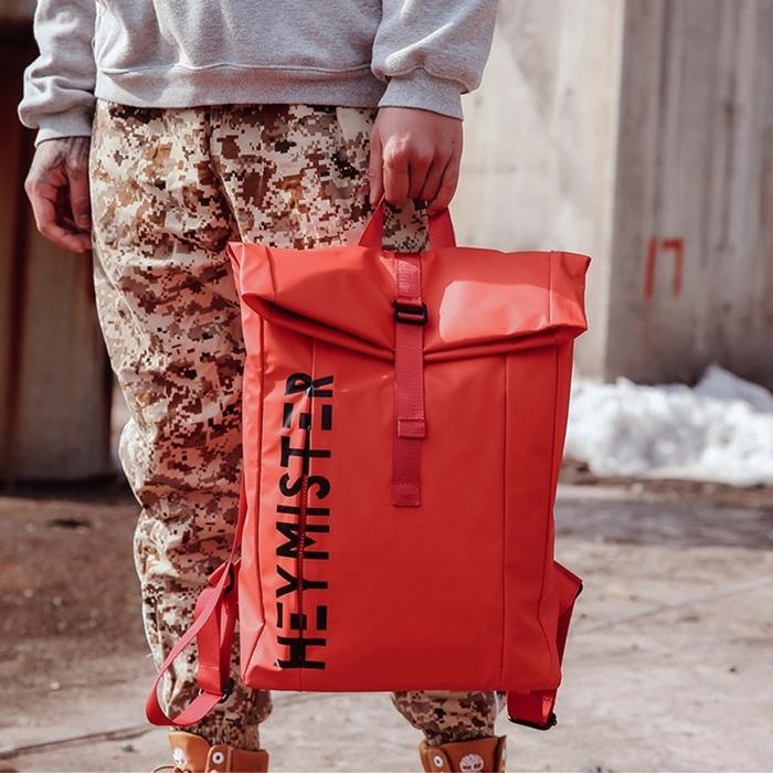 กระเป๋าเป้ Sport Style พิมพ์ลาย (มีให้เลือก 4 สี)