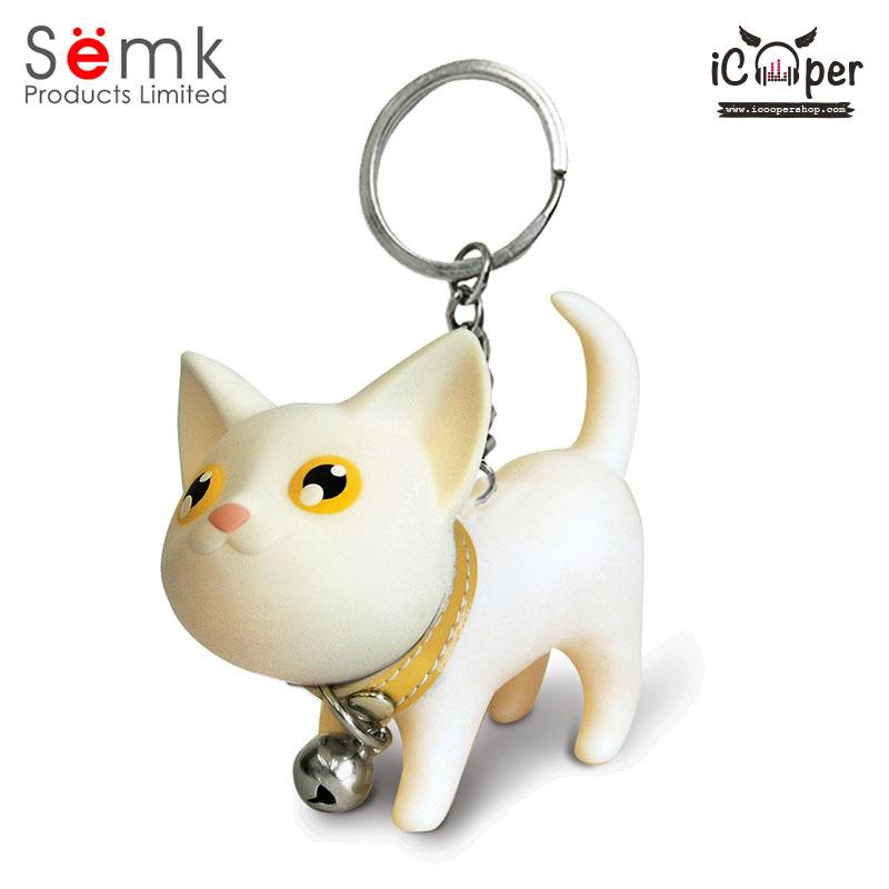 Semk - Kat Key Ring (White Cat)