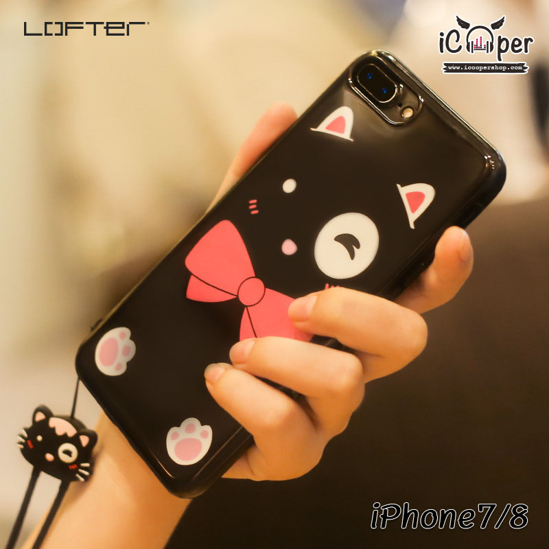 LOFTER Lovely Cat - Black (iPhone7/8)