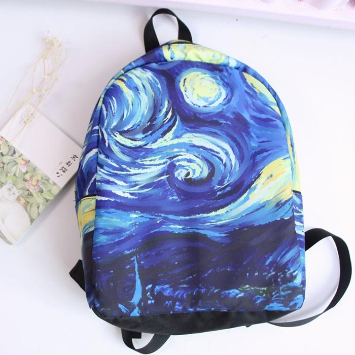 กระเป๋าเป้ผ้า Canvas พิมพ์ลาย (มีให้เลือก 3 ลาย)