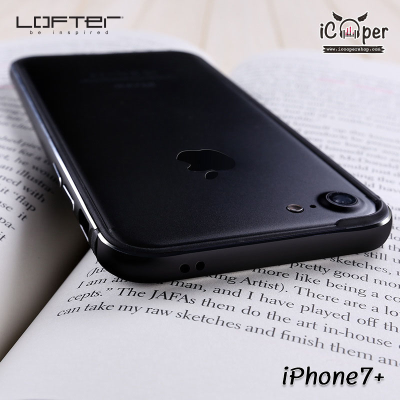 LOFTER Solid Color Bumper - Black (iPhone7+)