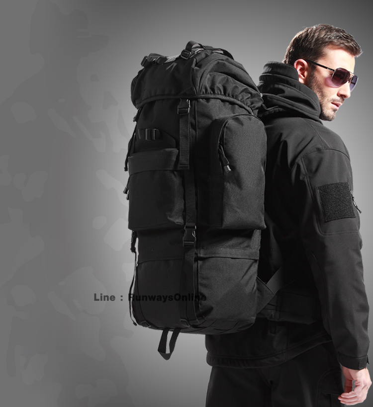 เป้ Backpack 65 ลิตร - สีดำ