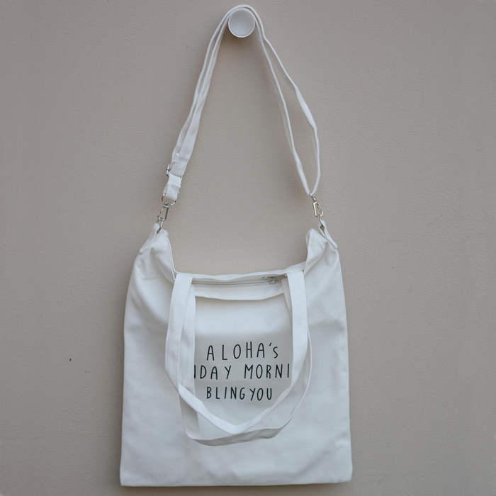 ★ พร้อมส่ง ★ กระเป๋าผ้า/ถุงผ้าพิมพ์ลาย (มีสายสะพาย)