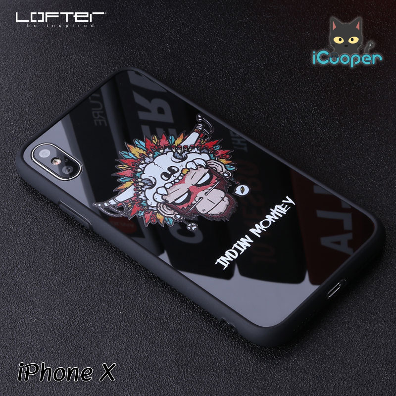 LOFTER Cartoon Mirror - Indian Monkey (iPhoneX)
