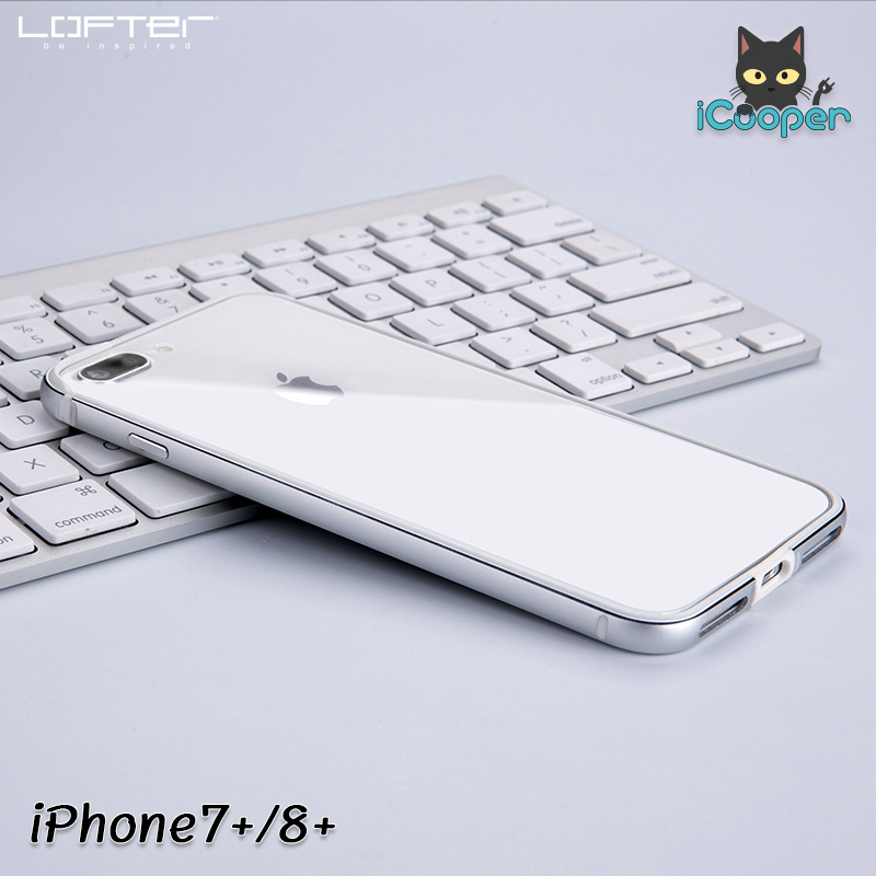 LOFTER Solid Color Bumper #2 - Silver (iPhone7+/8+)