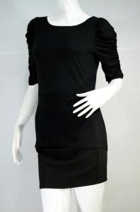 AIIZ career เสื้อยืดแขน 3 ส่วน สีดำ