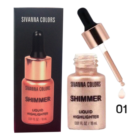 sivanna colors shimmer liquid highlighter ไฮไลท์ เนื้อลิควิค 01