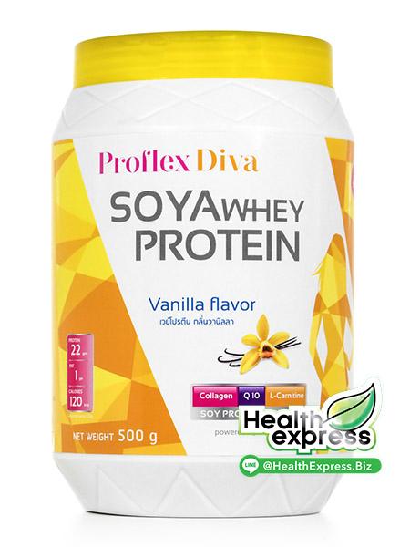 Proflex Diva SOYA Whey Protein Vanilla โปรเฟ็ค ดีว่า ซอย โปรตีน กลิ่นวนิลลา บรรจุ 500 g.