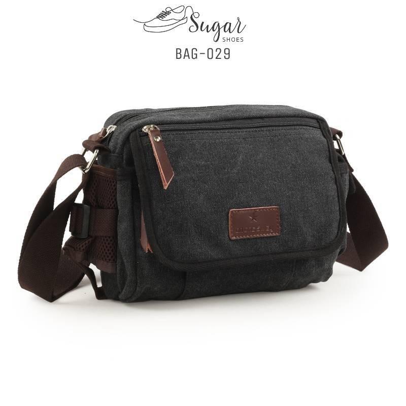 พร้อมส่ง กระเป๋าสะพายข้างผู้ชาย-BAG-029 [สีดำ]