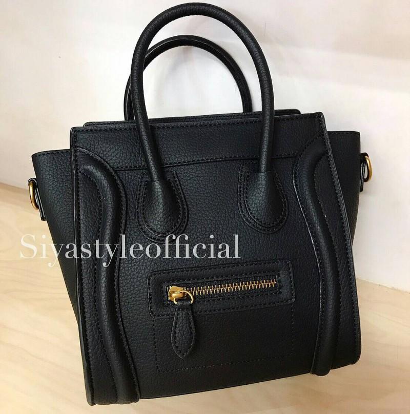 กระเป๋าสะพายแฟชั่น กระเป๋าสะพายข้างผู้หญิง ซีลีนนาโน (CELINE NANO) [สีดำ]