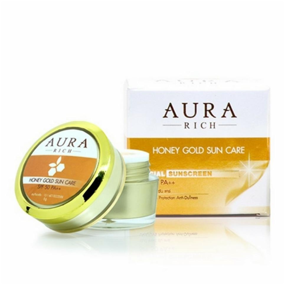 Aura Rich Honey gold Sun Care SPF50PA+++ ครีมกันแดดน้ำผึ้งทองคำ