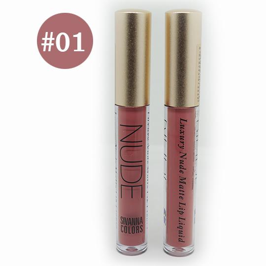 Sivanna Colors Luxury Nude Matte Lip liquid No.01