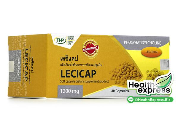 Lecicap 1200 mg. เลซิแคป บรรจุ 30 แคปซูล
