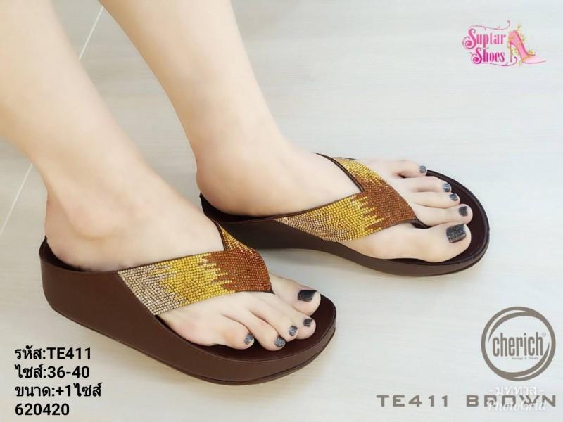 พร้อมส่ง รองเท้าสุขภาพ fitflop TE411-BRN [สีน้ำตาล]