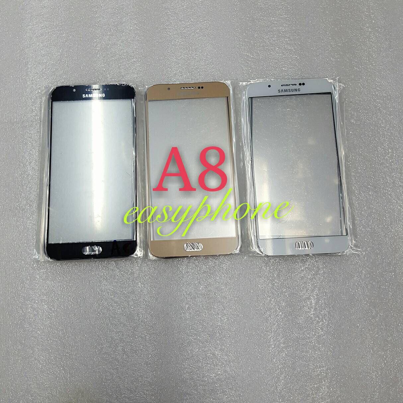 แผ่นกระจกหน้าจอ Galaxy A8 สีขาว//สีดำ//สีทอง