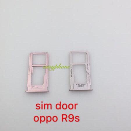ถาดใส่ซิม OPPO-R9S สีชมพู สีทอง